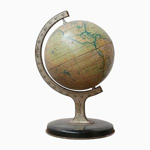 Englischer Dekorativer Zinn Schreibtisch Globus