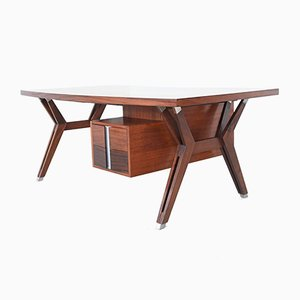 Terni Rosewood Executive Desk by Luisa and Ico Parisi for MIM Roma, 1958