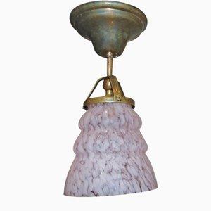 Pre-War Brass Plafond, Lamp, Art Deco