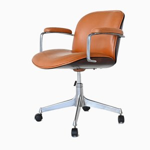 Terni Swivel Desk Chair by Ico & Luisa Parisi for MIM Roma, 1960s