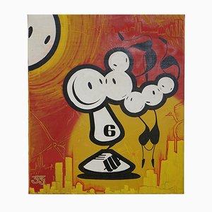 Mixed Media on Canvas, Bob von der London Police, 2001