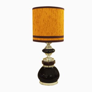 Ceramic and Aluminum Lamp, 1970s