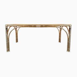 Mesa de centro vintage de imitación de bambú