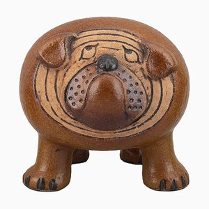 Glazed Ceramic Maxi Bulldog by Lisa Larson for Gustavsberg, 1970s