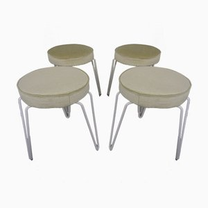 Mid-Century Hairpin Stools, 1960s, Set of 4
