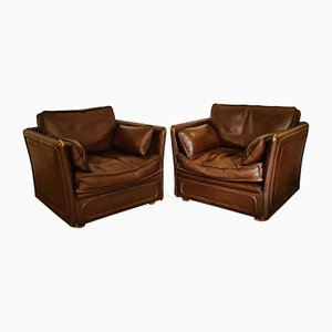 Vintage Leather Chairs, Set of 2