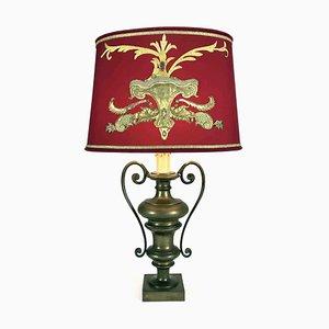 Lampada da tavolo in bronzo ricamato