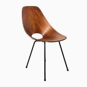 Gebogener Stuhl aus Schichtholz von Vittorio Nobili für Tagliabue Brothers, 1950er