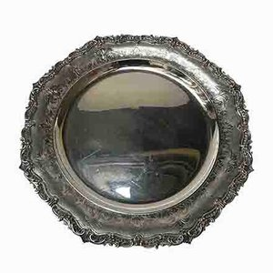 Centrotavola rotondo in argento