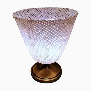 Murano Reticello Filigree Lamp by Dino Martens for Aureliano Toso