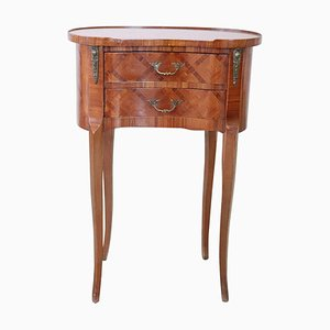 Inlaid Bedside Table, 1970s