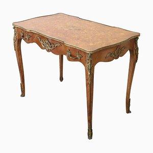 Antiker Schreibtisch mit Intarsie & vergoldeter Bronze, 1880er