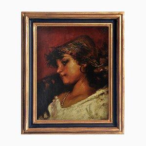 Young Gitana - Neapolitan School - Oil on Canvas