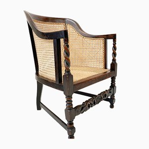 Edwardian Bergere Armchair