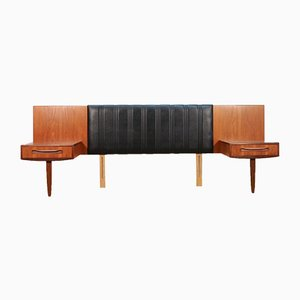 Mid-Century Headboard with Bedside Tables by V. B. Wilkins for G-Plan