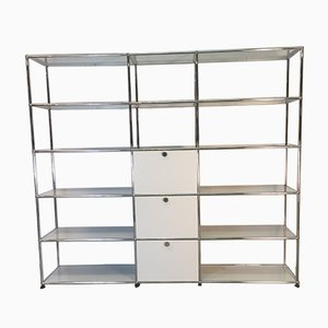 Large Vintage Shelf with 2 Drop-Down Doors and 1 Drawer by Fritz Haller & Paul Schärer for USM Haller