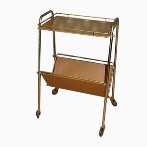 Magazine Rack Bar Cart, 1960s