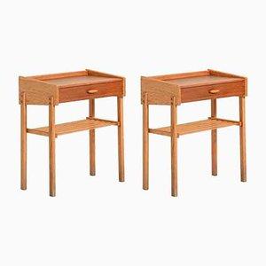 Mesas escandinavas de teca. Juego de 2