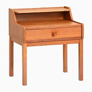 Bedside Table in Teak with Double Shelf