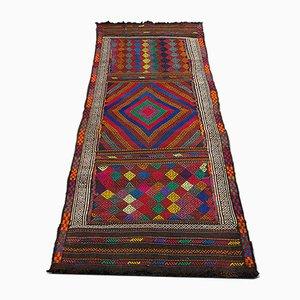 Vintage Middle Eastern Suzani Kilim Runner Rug