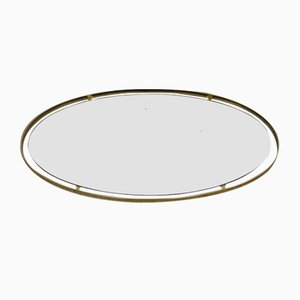 Oval Gilt Mirror, 1970s