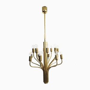 Brass Chandeliers from WKR Leuchten, 1960s
