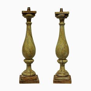 Large Balustrade Lamps, 1800s, Set of 2