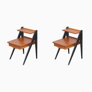 Tables de Chevet Mid-Century en Teck par Yngve Ekström, 1960s, Set de 2