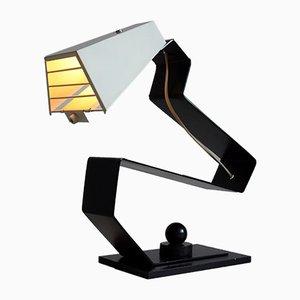Mid-Century Modern Schreibtisch in Schwarz & Weiß oder Nachttischlampe