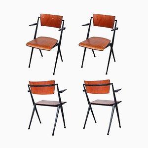 Compass Pyramid Stühle von Wim Rietveld für Ahrend De Cirkel, 1964, 4er Set