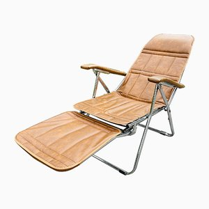 Mid-Century Sun Lounger Deckchair from Maule Marga, Italy, 1970s