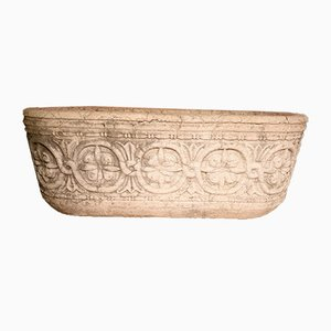 Vintage Large Carved Stone Tub, 1900s