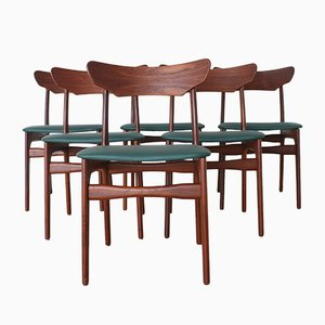 Esszimmerstühle von Schiønning & Elgaard, 1960er, Dänemark, 6er Set