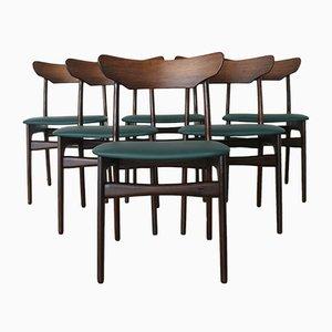 Palisander Esszimmerstühle von Schiønning & Elgaard für Randers Furniture Factory, 1960er, 6er Set