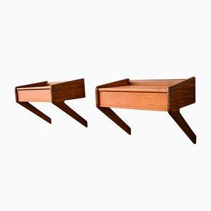 Tables de Chevet Mid-Century Modernes en Teck, Danemark, 1960s, Set de 2