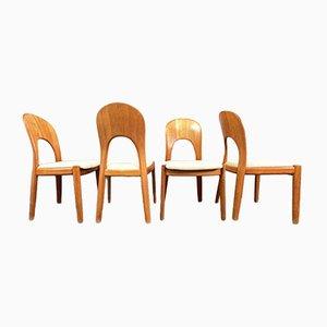 Sedie da pranzo Mid-Century di Niels Koefoed per Koefoeds Hornslet, Danimarca, anni '60, set di 4