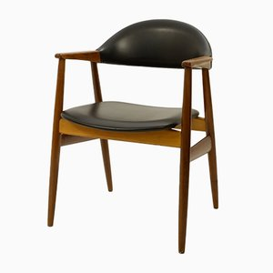 Model 213 Teak and Leatherette Armchair from Farstrup Furniture, 1958