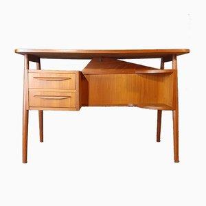 Office Teak Schreibtisch von Gunnar Nielsen für Tibergaard, Denmark 1960er