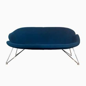Blue 2 Seater Sofa by Sinnerup, Denmark, 1980s
