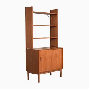 Scandinavian Bookcase with Sliding Doors