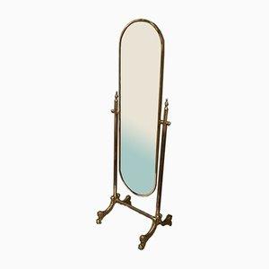 Vintage Bronze Full Length Mirror, 1960s