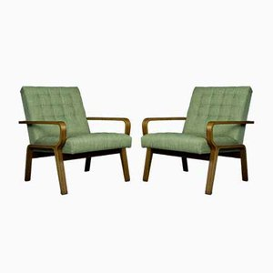 Czech Chairs by Ludvik Volák Drevopodnik Holesov, 1960s, Set of 2