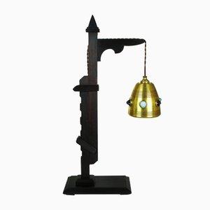 Lámpara ajustable de madera