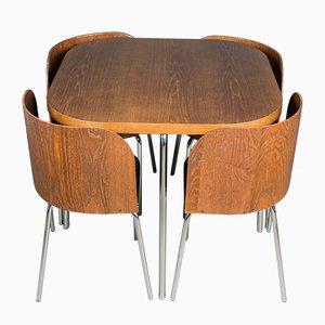 Juego de mesa de comedor sueco vintage de Sandra Kragnert para Ikea, años 80. Juego de 5
