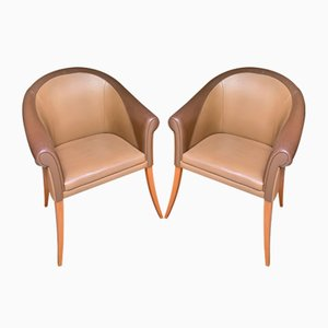 Sina Armchairs from Poltrona Frau, 1990s, Set of 2