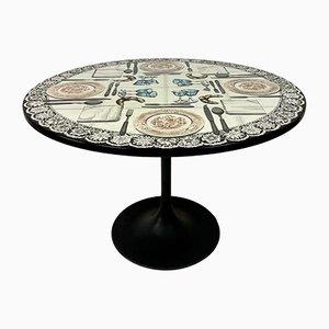 Mesa de comedor Fornasetti Tromp vintage de Atelier Fornasetti