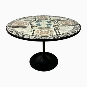 Vintage Fornasetti Tromp Dining Table Center by Atelier Fornasetti