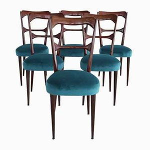 Mid-Century Italian Dining Chairs in the Style of Paolo Buffa, 1950s, Set of 6