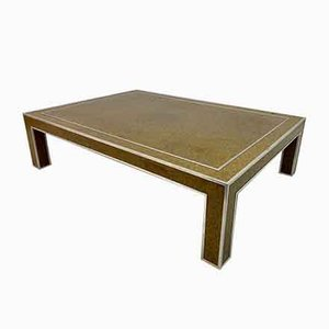 Italian Cork and Chrome Coffee Table, 1970s