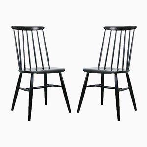 Black Fanett Dining Chairs by Ilmari Tapiovaara, Set of 2
